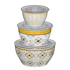 3pcs Bowl With Lid - Moroccan