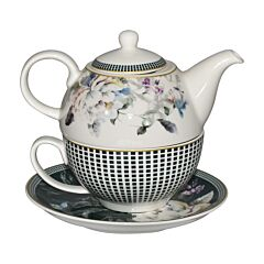 Tea For One - Turquoise Floral